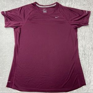 Ladies Plum Purple Nike Dri-Fit Active Workout Top